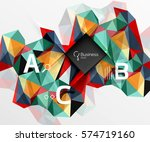 mosaic low poly abstract... | Shutterstock .eps vector #574719160