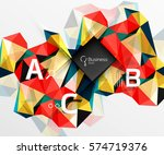 mosaic low poly abstract... | Shutterstock .eps vector #574719376