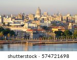 old havana at dawn with a view...   Shutterstock . vector #574721698