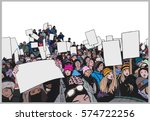 illustration of crowd... | Shutterstock .eps vector #574722256