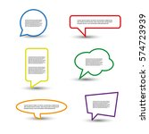 colorful speech bubbles | Shutterstock .eps vector #574723939