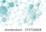 scientific technologies of the ... | Shutterstock .eps vector #574726828
