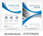 brochure template flyer design... | Shutterstock .eps vector #574729654