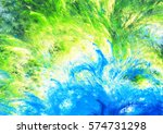 bright blue and green colors... | Shutterstock . vector #574731298