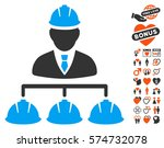 builder management icon with...   Shutterstock .eps vector #574732078