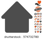 cabin icon with bonus... | Shutterstock .eps vector #574732780