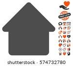 cabin icon with bonus...   Shutterstock .eps vector #574732780