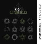 Set Of Vintage Sunbursts In...