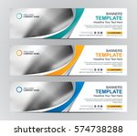 abstract web banner design... | Shutterstock .eps vector #574738288