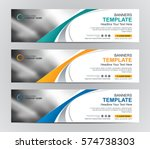 abstract web banner design... | Shutterstock .eps vector #574738303