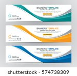 abstract web banner design... | Shutterstock .eps vector #574738309