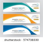 abstract web banner design... | Shutterstock .eps vector #574738330