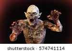 3d Illustration Of A Zombie...