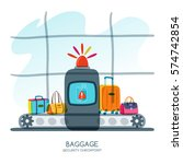 baggage security checkpoint in... | Shutterstock .eps vector #574742854