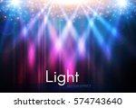 transparent spotlight. scene... | Shutterstock .eps vector #574743640