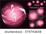 musical background with pink... | Shutterstock .eps vector #574743658