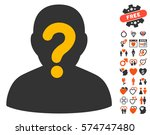 anonymous icon with bonus amour ... | Shutterstock .eps vector #574747480