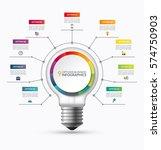 lightbulb infographic template... | Shutterstock .eps vector #574750903