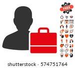 accounter icon with bonus... | Shutterstock .eps vector #574751764
