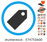 tag icon with bonus passion... | Shutterstock .eps vector #574753600