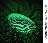 3d illustration. fingerprint... | Shutterstock . vector #574759249