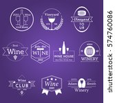 wine label vineyard badge logo... | Shutterstock .eps vector #574760086