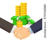 business man shaking hands.... | Shutterstock .eps vector #574763080