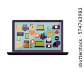 cloud computing technology icon ... | Shutterstock .eps vector #574763983