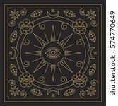 mandala. abstraction. linear... | Shutterstock .eps vector #574770649