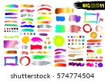 big collection of color paint ... | Shutterstock .eps vector #574774504