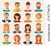 set of vector flat style male... | Shutterstock .eps vector #574779874