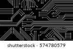 circuit board vector... | Shutterstock .eps vector #574780579