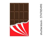 chocolate bar icon. opened red... | Shutterstock .eps vector #574785490
