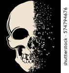 skull t shirt graphic design | Shutterstock .eps vector #574794676