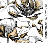 Seamless Pattern With Silver...