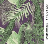 vector  seamless  tropical ... | Shutterstock .eps vector #574795120