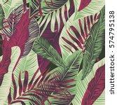 vector  seamless  tropical ... | Shutterstock .eps vector #574795138