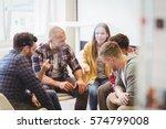 happy creative business people... | Shutterstock . vector #574799008