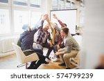 happy creative business people...   Shutterstock . vector #574799239