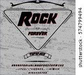 rock forever vintage font... | Shutterstock .eps vector #574799494
