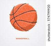 basketball ball of a silhouette ... | Shutterstock .eps vector #574799920