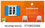 elements of architecture  ... | Shutterstock .eps vector #574802086