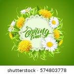 inscription spring time on... | Shutterstock .eps vector #574803778