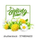 inscription spring time on... | Shutterstock .eps vector #574804603