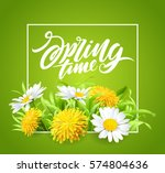 inscription spring time on... | Shutterstock .eps vector #574804636