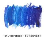 navy blue  indigo watercolor... | Shutterstock . vector #574804864