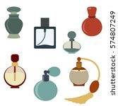vector perfume icon set. logo... | Shutterstock .eps vector #574807249