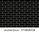 black brick wall background.... | Shutterstock .eps vector #574808428