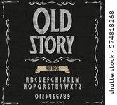 old story handwritten... | Shutterstock .eps vector #574818268