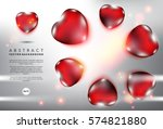 abstract vector background.... | Shutterstock .eps vector #574821880
